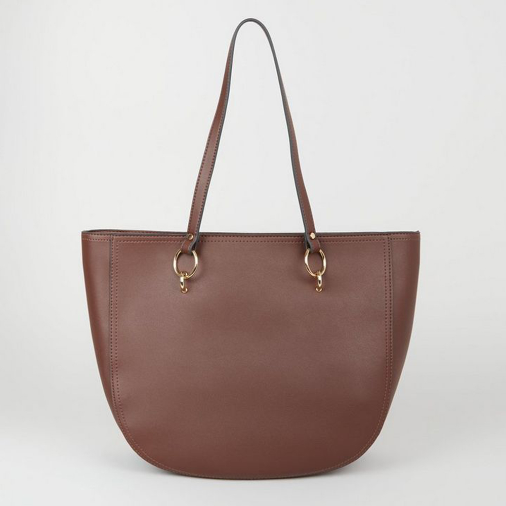 how to buy a few days away watch New Look Dark Brown Ring Strap Tote Bag