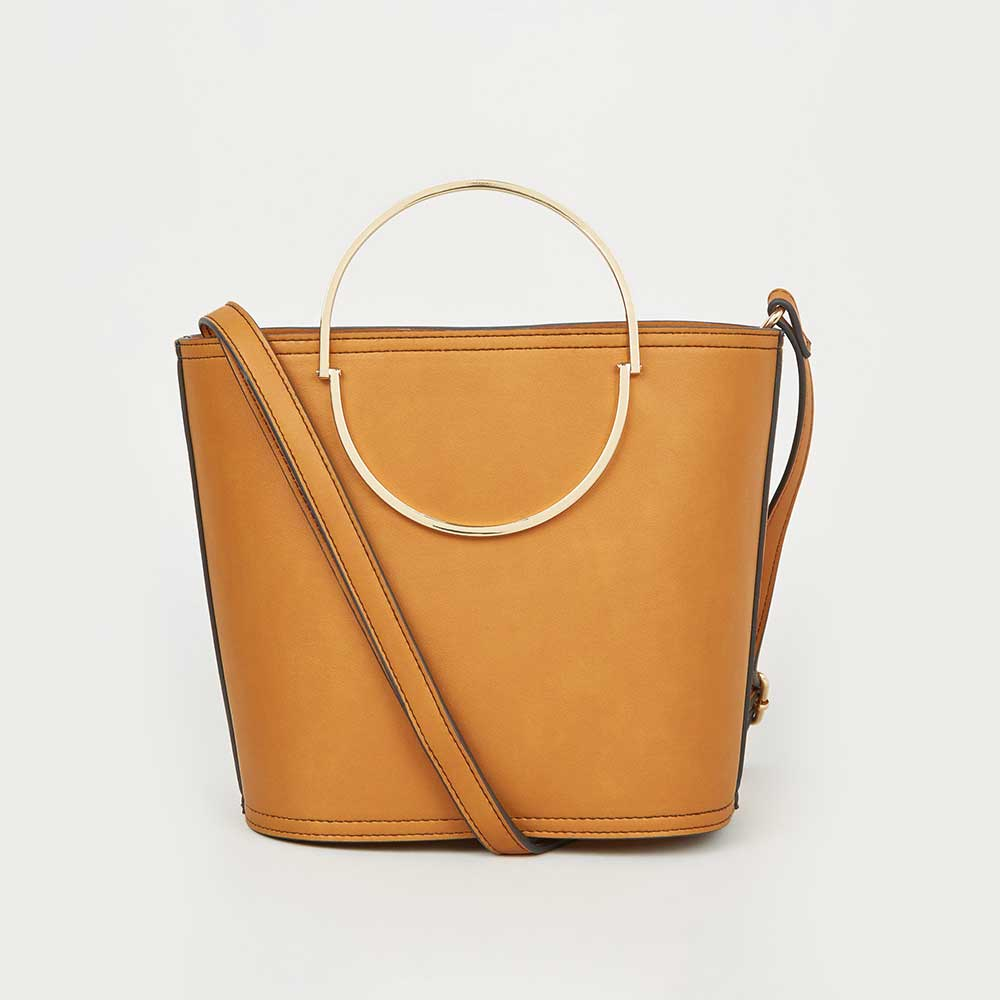 fast delivery clearance sale pretty cool New Look Mustard Half Circle Handle Bucket Bag